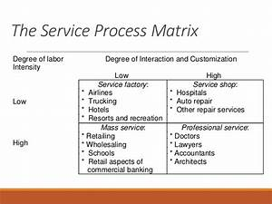 the nature of services With service matrix template