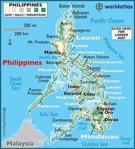 Philippines Large Color Map  Philippine