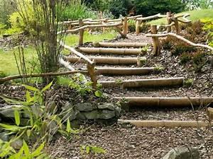 Rondin De Bois Pour Jardin : 18 solutions pour cr er un escalier ext rieur ~ Edinachiropracticcenter.com Idées de Décoration