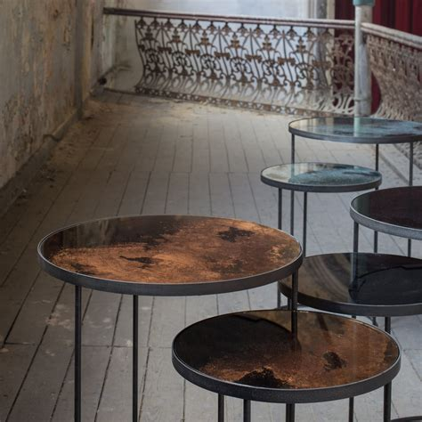 bronze table l set buy notre monde nesting side table set bronze amara