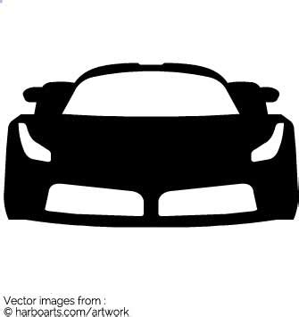 ferrari logo black and white vector download ferrari front vector graphic