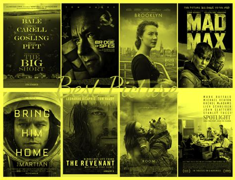 Academy Awards Best Picture 2016 Academy Awards Best Picture By Gj301 On Deviantart