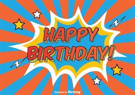 comic style happy birthday illustration ideias