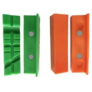 pack magnetic vise jaw pads covers protectors  multi