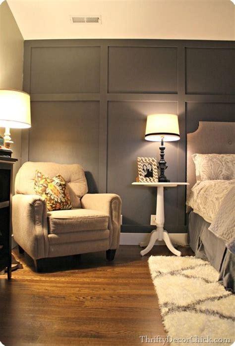 adding  dark accent wall   master bedroom diy