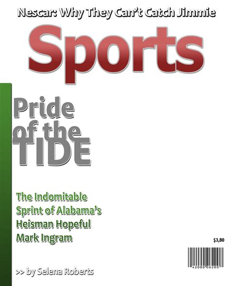 blank sport magazine cover template sports illustrated blank cover