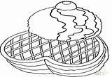 Coloring Waffle Waffles Eggs Printable Getcolorings Getdrawings sketch template