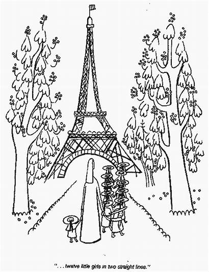 Paris Madeline Tower Coloring Pages Eiffel Printable