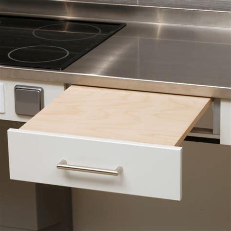 planche ardoise cuisine tiroir avec planche à découper ergotechnik