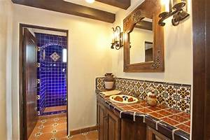 talavera tile for mexican bathroom design within mexican