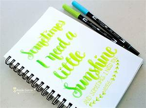Lettering lyrics by jennie garcia lyrics so cute and for Tombow lettering pens