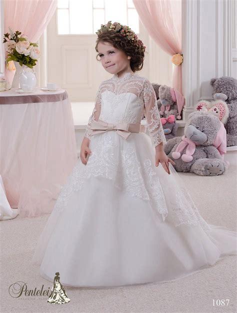miniature bride dresses  high neck  long