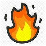 Fire Icon Burn Flame Cropped Outline Colored