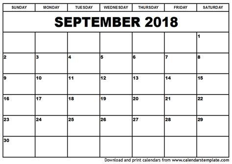 2018 calendar template printable september 2018 calendar template calendar monthly printable