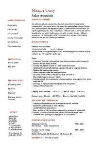 sales professional resume skills sales associate resume skills personal summary and work experience