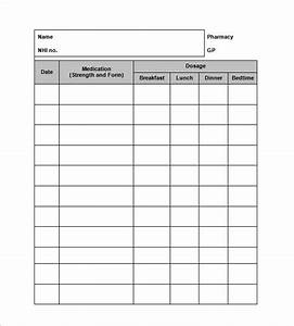 medication log template free download champlain With med cards template