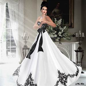 Romantic bridal gowns perfect for the upcoming spring for Black white wedding dresses