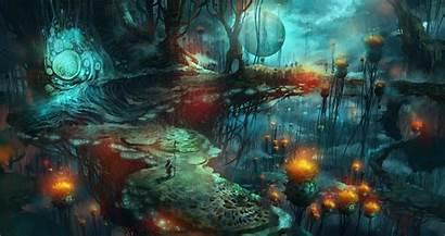 Mushroom Fantasy Magic Mushrooms Backgrounds Desktop Background