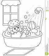 Bath Coloring Taking Clipart Shower Boy Bathtub Take Bathroom Cartoon Sheets Bubbles Illustration Template Useful Clipground Pages Child Sheet Turns sketch template