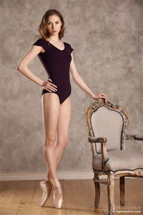 Cute Ballerina Stripping Naked
