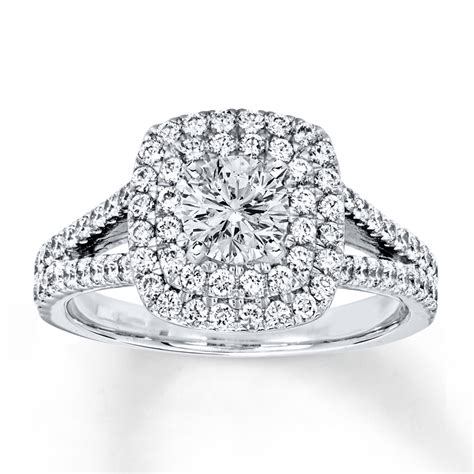 Certified Diamond Engagement Ring 1 Cttw Round 18k White