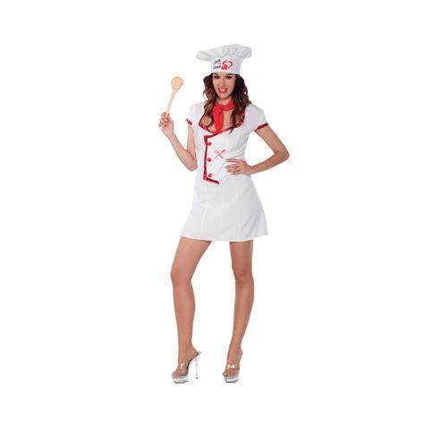 tenue de cuisine femme déguisement de chef cuisinier pour femme