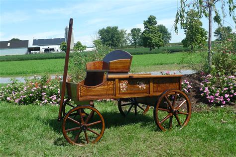 Buckboard Wagons Amish Wooden Wagon Amishshopcom