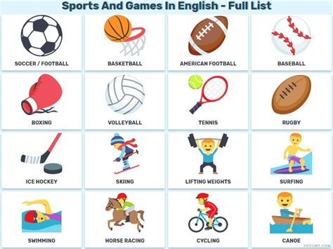 sports   games  english  lists  images