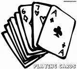 Playing Cards Coloring Pages Print Playingcards sketch template