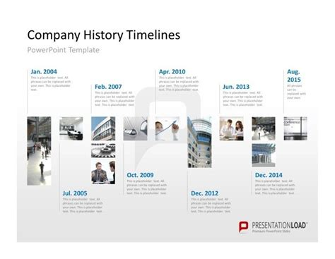 history powerpoint template show your company history on a timeline in a powerpoint presentation presentationload http