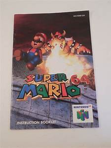 Super Mario 64 N64 Instruction Booklet Only No Game