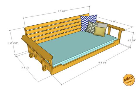 build  porch bed swing plans  video   wood