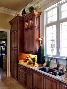 wall pantry unit and kitchen sink area 12 foot ceilings With kitchen cabinets lowes with clemson tigers wall art