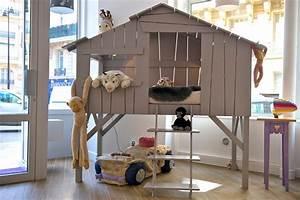 Lit Cabane Pour Enfant : cabane lit enfant ouistitipop ~ Teatrodelosmanantiales.com Idées de Décoration
