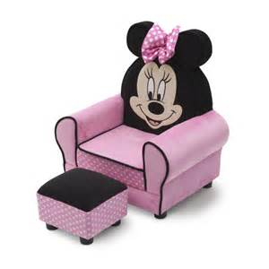 Fauteuil Minnie Mousse by Delta Children Minnie Mouse Kids Club Chair And Ottoman