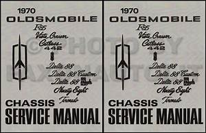 1970 Oldsmobile Repair Shop Manual Original 442  Cutlass  88  98  Toronado