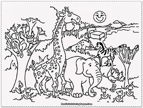 Zoo Animals Coloring Pages Printables