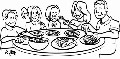 Dinner Clipart Drawing Diner Meal Clip Feast