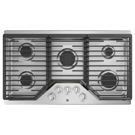 KitchenAid 36 in Gas Cooktop in Stainless Steel with 5