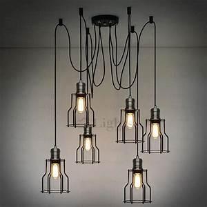Vintage light industrial chandelier lighting loft