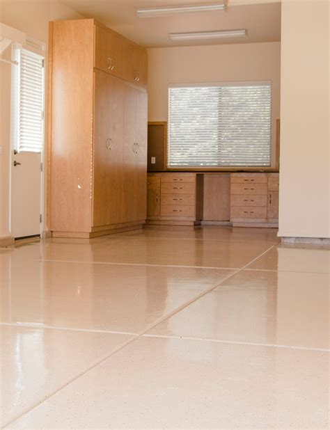 pictures of garage floors and cabinets done