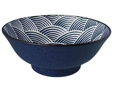 kitchen canisters ceramic sets modern blue and white japanese wave large japanese noodle bowl