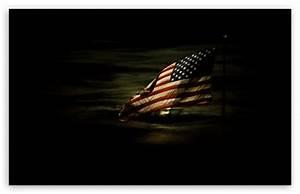 American Flag Lit By A Full Moon 4K HD Desktop Wallpaper ...