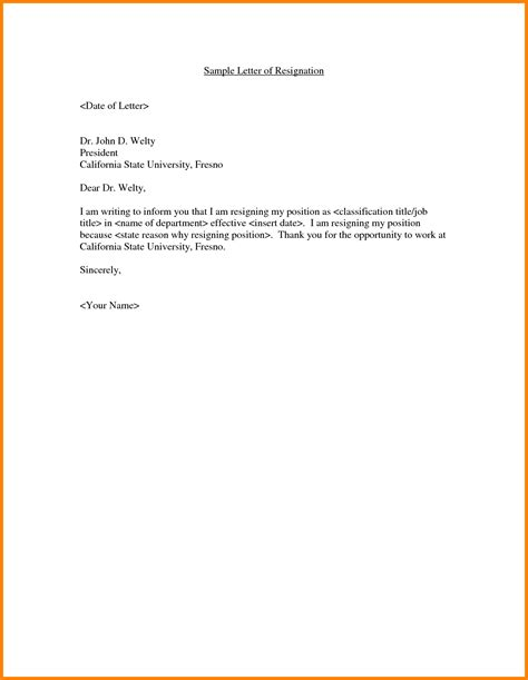 resignation letter  company resume samples job