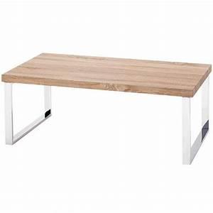 Table Basse En Bois Pieds Chrom LUNA Achat Vente
