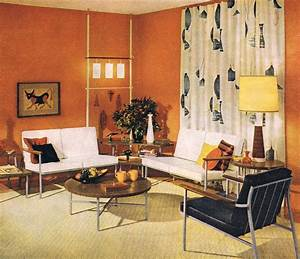 Classic early 6039s living room mid century modern for 60s interior decorating