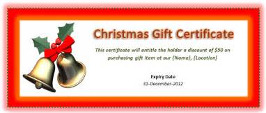 christmas gift certificate template microsoft office templates