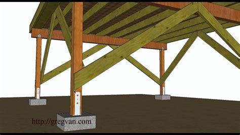 ways  brace   standing wood framed deck youtube