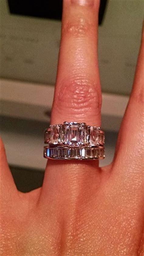 my emerald cut engagement ring and wedding band weddingbee photo gallery