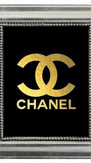 CHANEL Gold Monogram Logo Art Print - Coco Chanel Gold ...